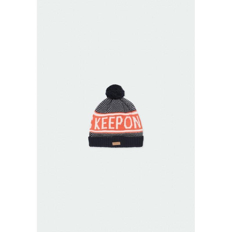 Плетена зимна шапка Boboli за момчета - 501185-2440 - view 1