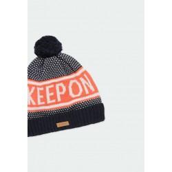 Плетена зимна шапка Boboli за момчета - 501185-2440 - view 3