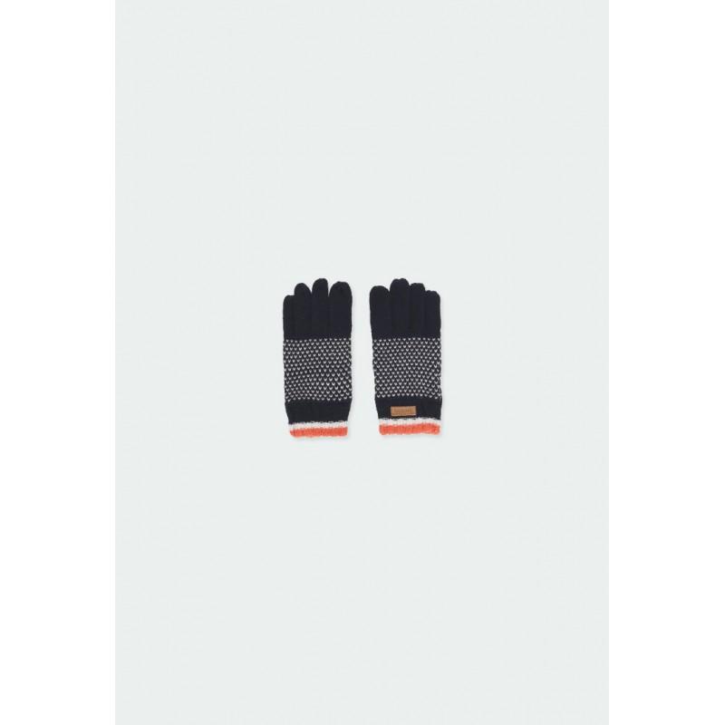 Плетени зимни ръкавици Boboli за момчета - 501196-2440 - view 1
