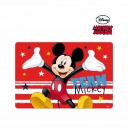 Детска подложка за хранене Mickey Mouse (Мики Маус) за момчета. - LR0483 red - view 1
