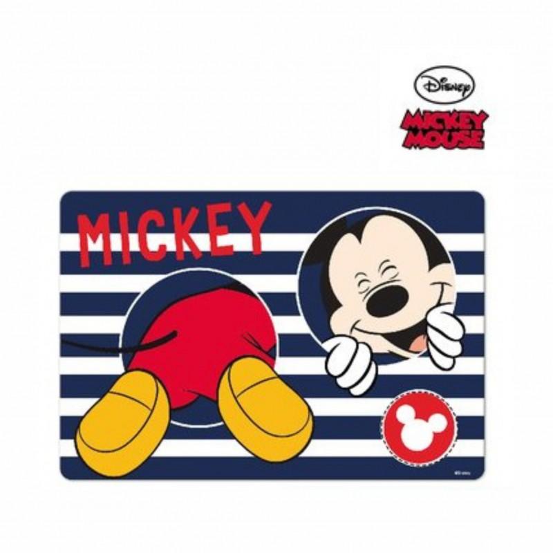 Детска подложка за хранене Mickey Mouse (Мики Маус) за момчета. - LR0483 blue - view 1