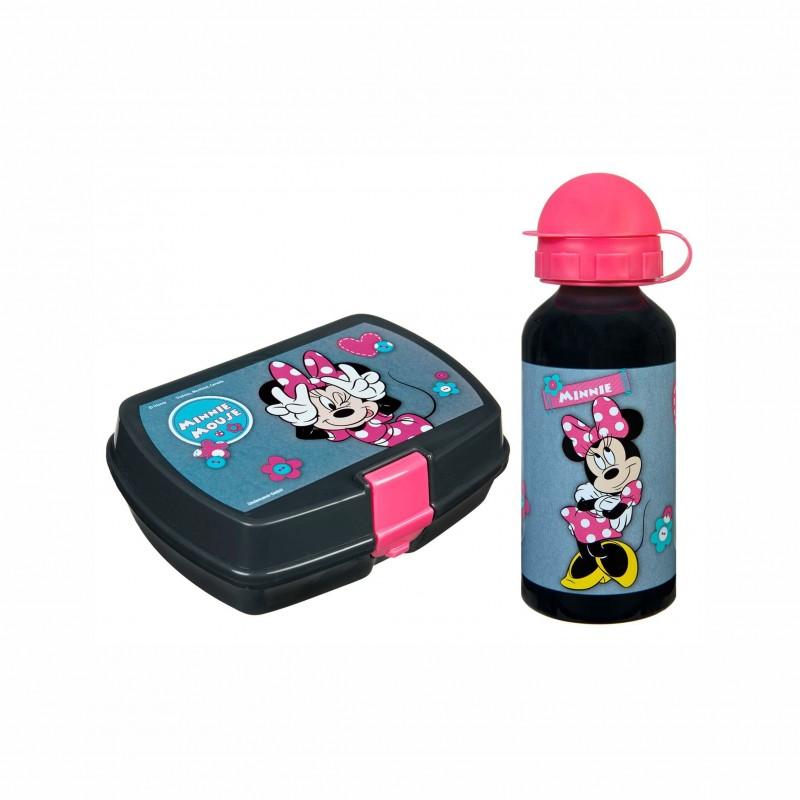 Детски комплект алуминиева бутилка и кутия за храна Minnie Mouse (Мини Маус) за момичета. - MIHL9881 - view 1