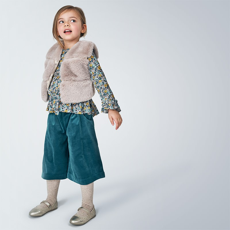 Детски елек с косъм Mayoral за момичета - 4351-011 - view 1