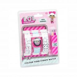 Детски комплект часовник и каишки за оцветяване L.O.L. Surprise за момичета. - DI2201LOL - view 2