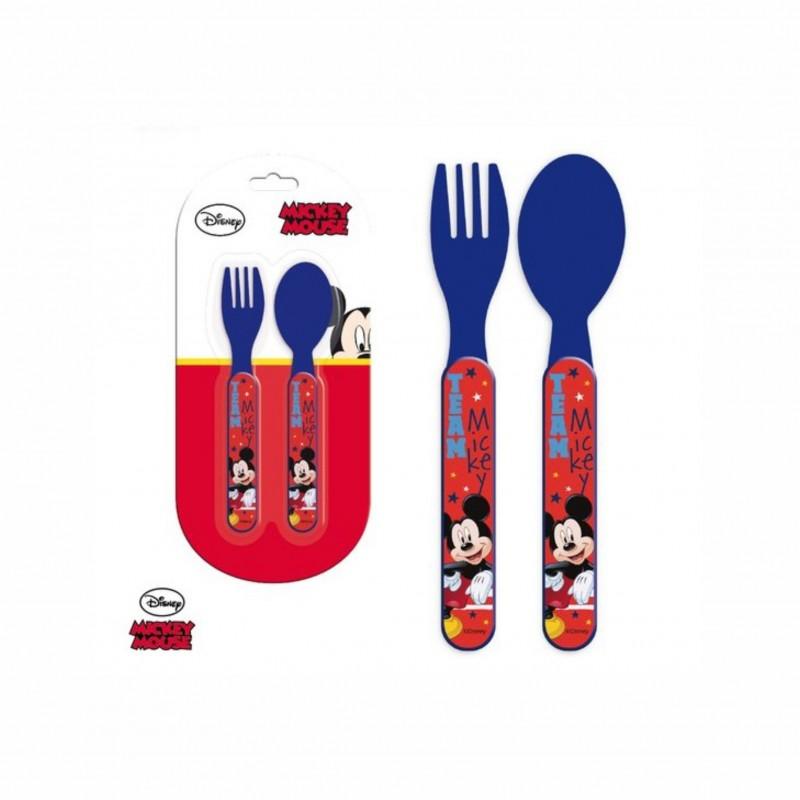 Детски комплект прибори за хранене Mickey Mouse (Мики Маус) за момчета. - LR0386 - view 1