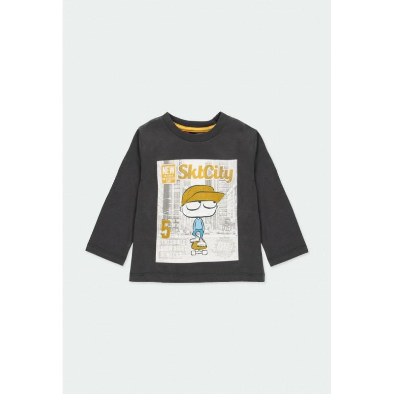 Тениска Boboli с дълъг ръкав за момчета - 341019-8116 - view 1