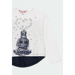 Тениска Boboli с дълъг ръкав за момичета - 401094-1100 - view 3