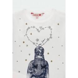 Тениска Boboli с дълъг ръкав за момичета - 401094-1100 - view 5