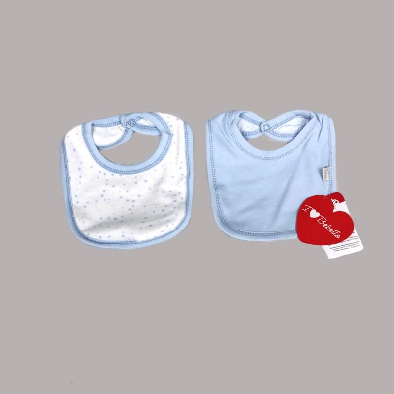 Бебешки комплект 2бр. лигавници Bebetto за момчета. - C723 blue - view 1