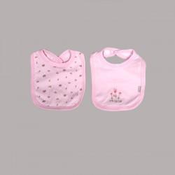 Бебешки комплект 2бр. лигавници Bebetto за момичета. - C681 pink - view 1