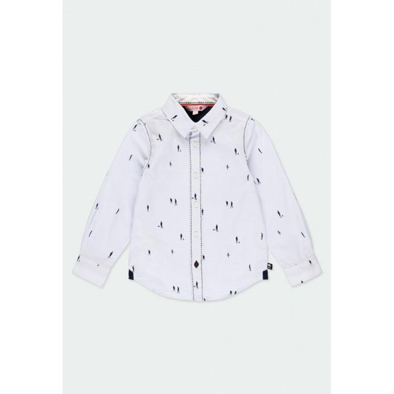 Риза Boboli с дълъг ръкав за момчета - 731304-9396 - view 1