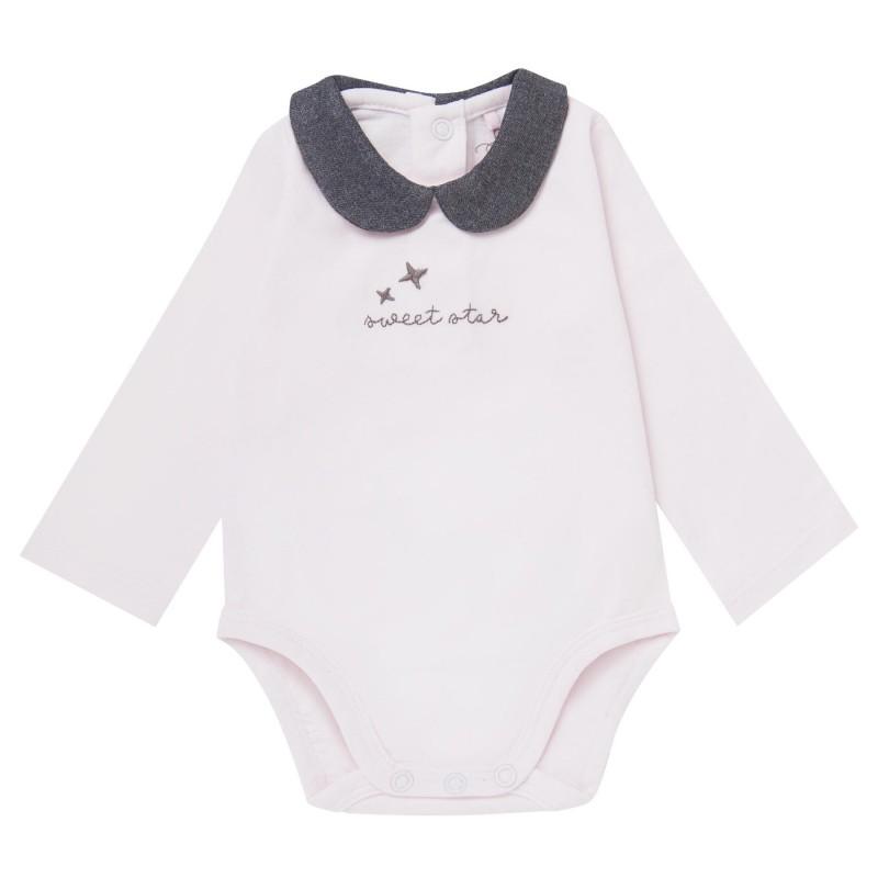 Детско боди Boboli с дълъг ръкав за бебе момиче - 101057-3000 - view 1