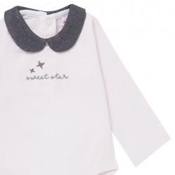 Детско боди Boboli с дълъг ръкав за бебе момиче - 101057-3000 - view 3