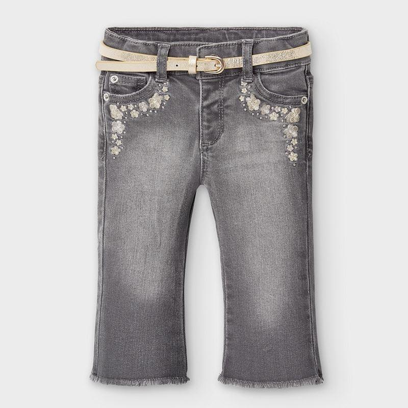 Дълъг дънков панталон Mayoral тип чарлстон за бебе момиче - 2590-081 - view 1