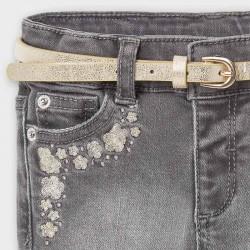 Дълъг дънков панталон Mayoral тип чарлстон за бебе момиче - 2590-081 - view 3