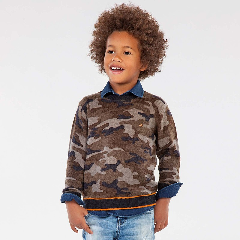 Пуловер Mayoral с камуфлажна щампа за момче - 4327-085 - view 1