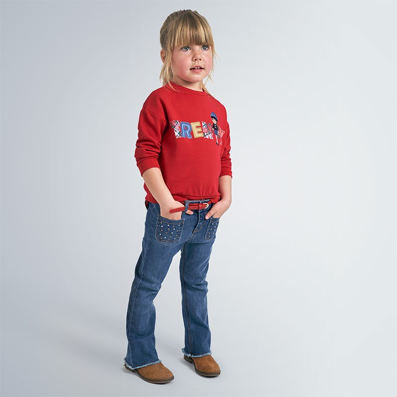Панталон тип чарлстон с колан Mayoral за момиче - 4549-069 - view 1