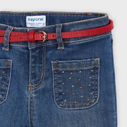 Панталон тип чарлстон с колан Mayoral за момиче - 4549-069 - view 3
