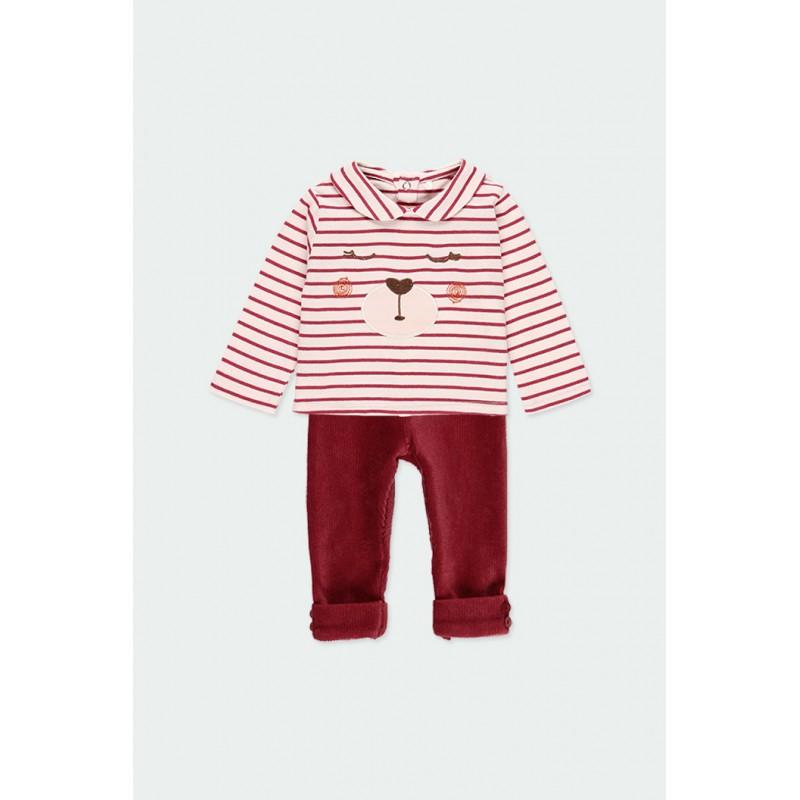 Детски комплект Boboli със суитчър и панталони за бебе момиче - 121037-9363 - view 1