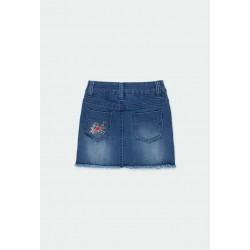 Детска дънкова пола Boboli за момичета - 431075-BLUE - view 2