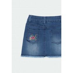 Детска дънкова пола Boboli за момичета - 431075-BLUE - view 4