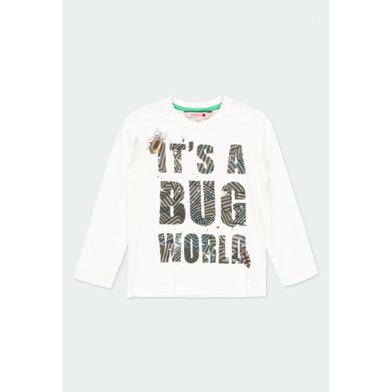 Детска тениска Boboli с дълъг ръкав за момчета - 511007-1111 - view 1