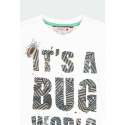 Детска тениска Boboli с дълъг ръкав за момчета - 511007-1111 - view 3