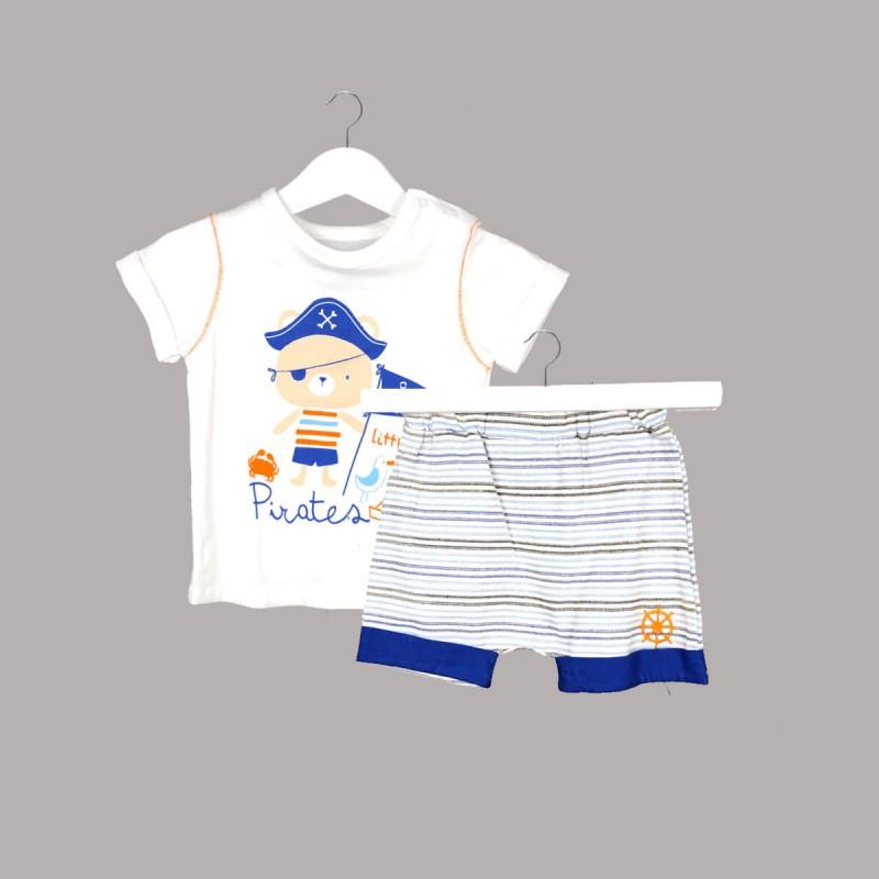 Бебешки комплект Bebetto от 2 части за момчета - тениска с къс ръкав и къси панталони. - K2444 - view 1