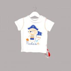 Бебешки комплект Bebetto от 2 части за момчета - тениска с къс ръкав и къси панталони. - K2444 - view 2