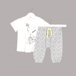 Комплект Bebetto с тениска къс ръкав и панталони за бебе момче - K2627 - view 1
