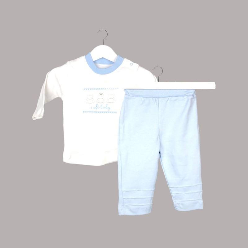 Пижама Bebetto с дълъг ръкав за бебе момче - F1054 blue - view 1