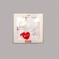 Комплект за изписване Bebetto от 5 части в розово и бялоза бебе момиче - Z644 - view 2