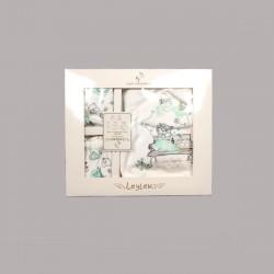Комплект за изписванеEnfant от 5 части в бяло и зелено за бебе момиче - 50518-037 - view 2