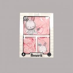Комплект за изписванеEnfant от 5 части врозово за бебе момиче - 54071-011 - view 2
