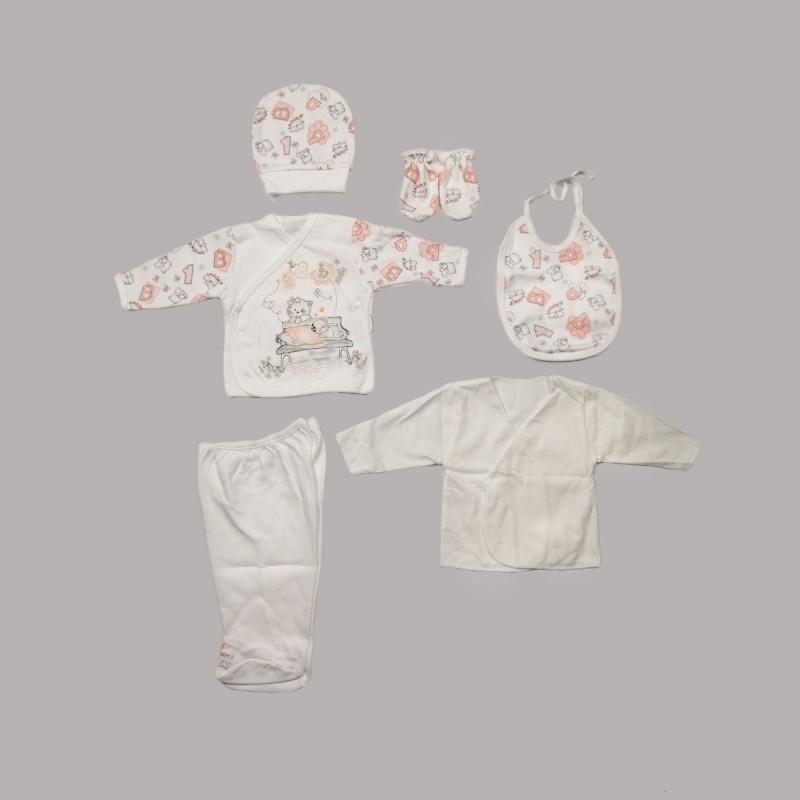 Комплект за изписванеEnfant от 6 части в бяло за бебе момиче - 50524-010 - view 1