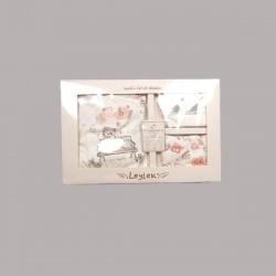 Комплект за изписванеEnfant от 6 части в бяло за бебе момиче - 50524-010 - view 2
