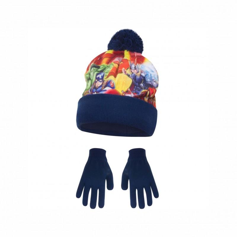 Комплект зимни аксесоари шапка и ръкавициAvengers (Отмъстителите) за момче - HQ4300 blue - view 1