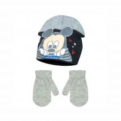 Комплект зимни аксесоари шапка и ръкавициMickey Mouse (Мики Маус) за момче - HQ4084 grey - view 1